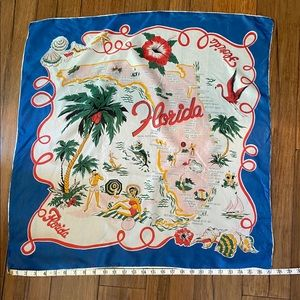 Vintage 50s Florida Map scarf 🏖